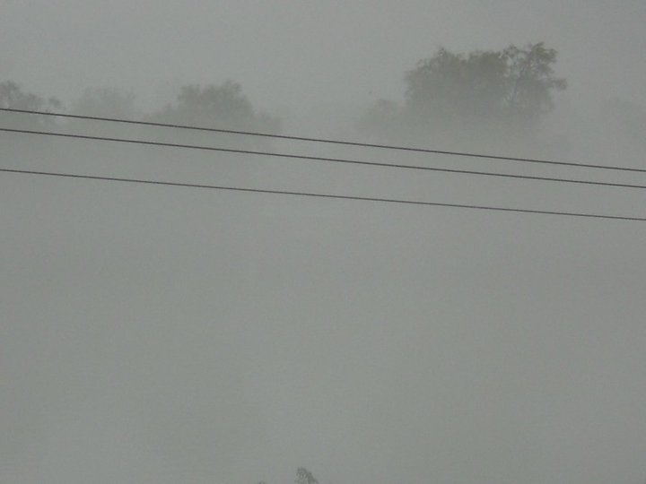 The way--- we could not even see 5m ahead